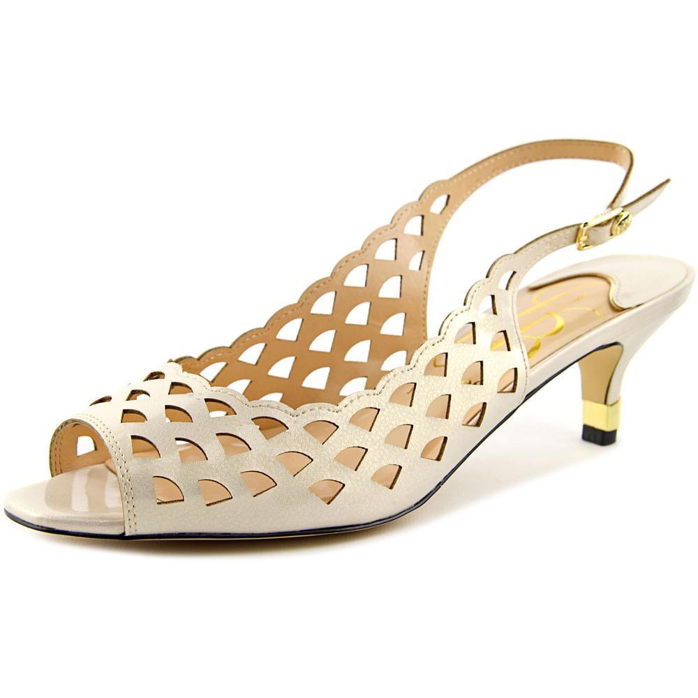 J. Renee Peppi Open-Toe Synthetic Slingback Heel by J. Renee