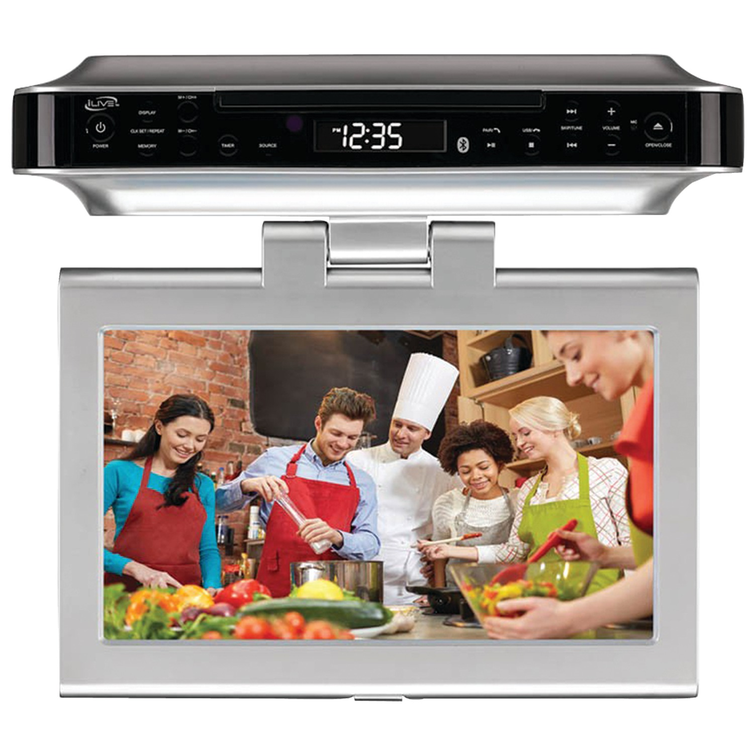 """iLive DVD Player with 10"""" LCD display Silver IKTD1037S"""