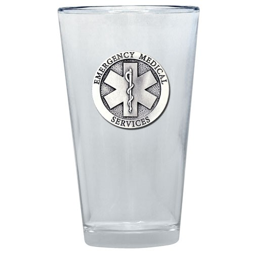 E.M.S. Pint Glass by Heritage Metalworks