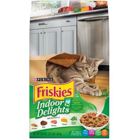 Purina Friskies Indoor Delights Chicken, Beef, Salmon, Cheese, Garden Greens Flavors Adult Dry Cat Food, 3.15 - Halloween Cheese Ball Cat