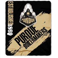 """NCAA Purdue Boilermakers 50"""" x 60"""" Fleece Throw"""