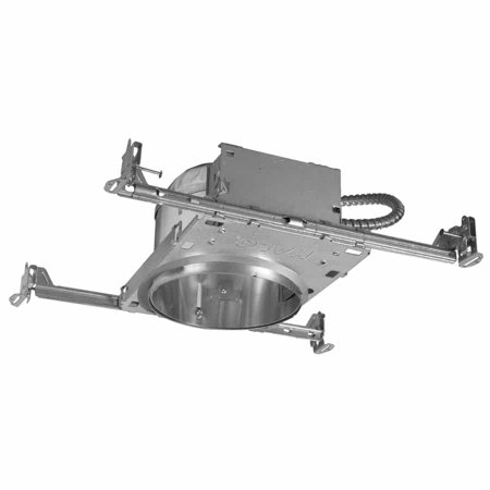 Light New Construction Housing - Four Bros Lighting R6NCSLED-IC/6PK Shallow New Construction LED Recessed Can Light - 6 Inch - IC Airtight Housing - Pack of 6