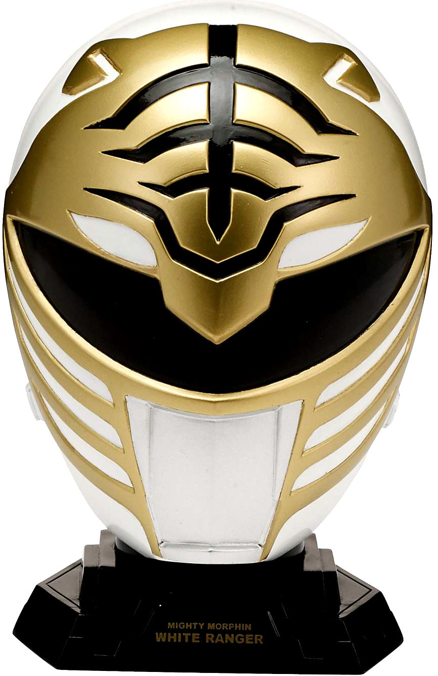 Power Rangers Legacy 1 4 Helmet Mighty Morphin White-CHILD by Bandai