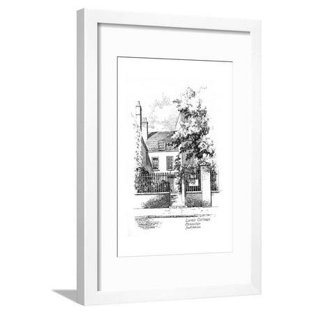 Charles Lamb's Cottage, Church Street, Edmonton, London, 1912 Framed Print Wall Art By Frederick Adcock ()