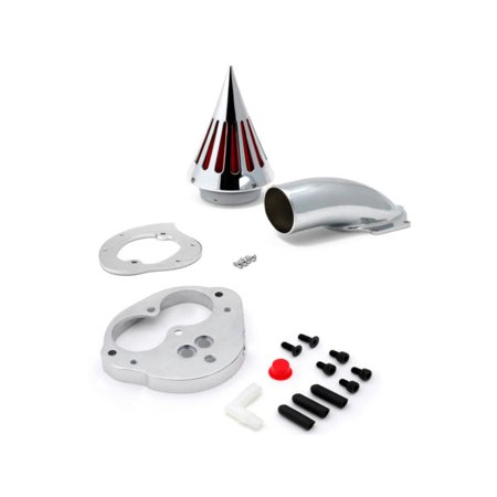 Krator 2000 & up Kawasaki Vulcan 1500 1600 Classic Fuel Injected Only Cruiser High Quality Chrome Billet Aluminum Cone Spike Air Cleaner Kit Intake Filter Motorcycle Chrome 1500 Triple Handle