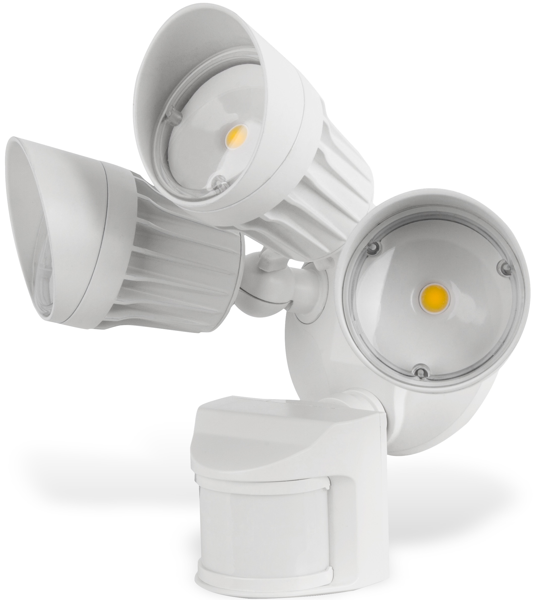 LEDPAX LED Security Light, 30W, Motion Activated, Integrated LED, 2700 Lumens, Flood, 5000K, Waterproof IP65, White