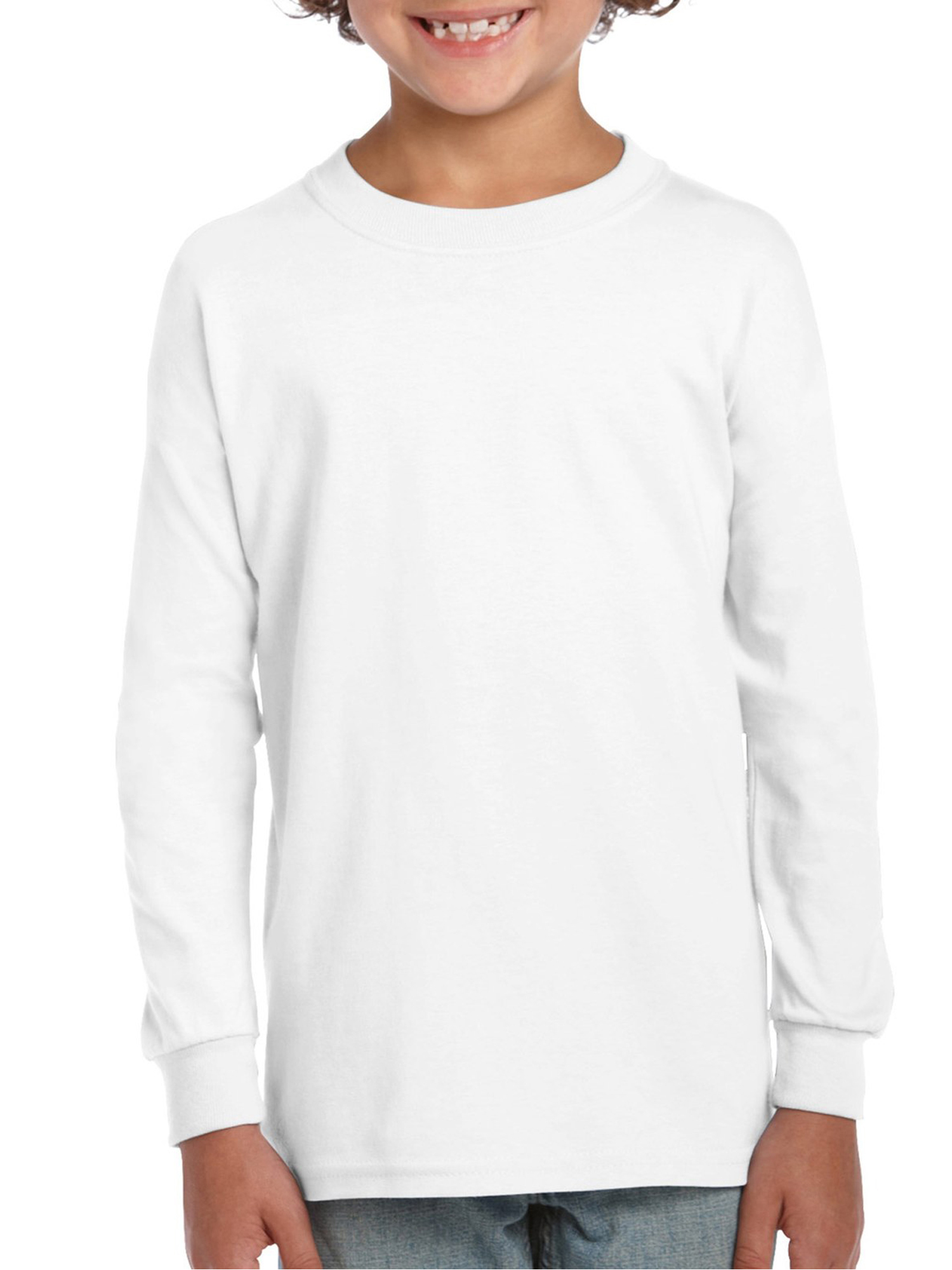 Ultra Cotton Youth Long Sleeve T-Shirt, 2-Pack Set (Big Boys)