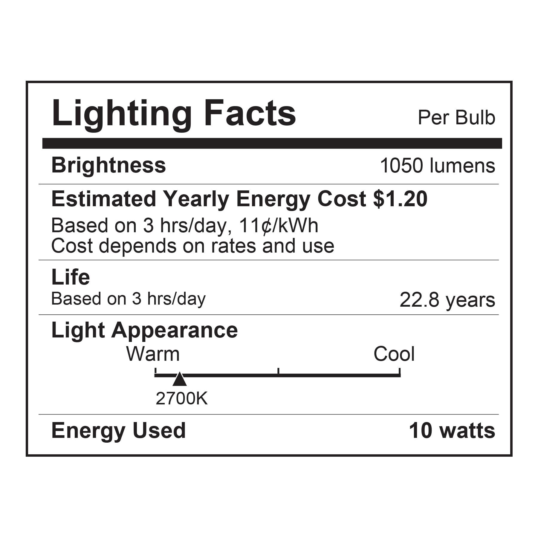 Merkury Innovations Color Smart A21 Light Bulb 75w Equivalent No