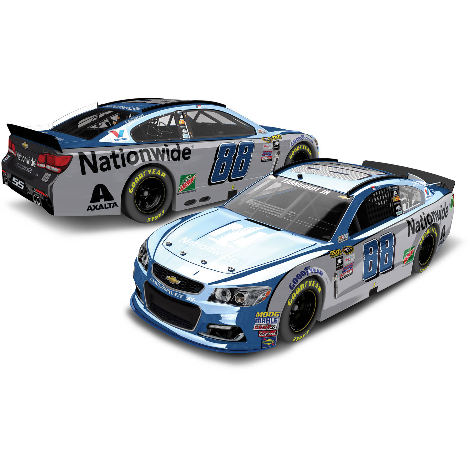 Action Racing Dale Earnhardt Jr. 2016 #88 Nationwide 1:24 Nascar Sprint Cup Series Color... by Generic