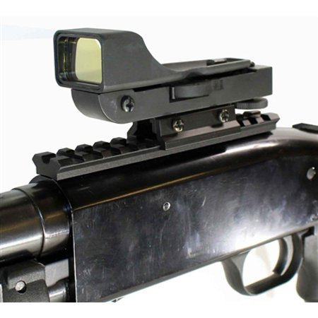 Mossberg 500 Picatinny Flat Top Rail Mount With Reflex Sight Red Dot,