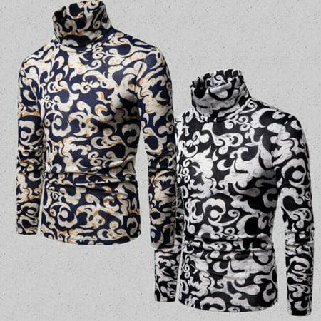 Mens Thermal Underwear Long Sleeve Turtle Neck Top Ski Warm Winter T - Turtle Suit