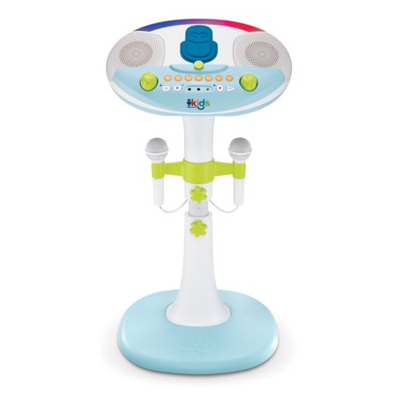Singing Machine Kids Pedestal with lights, detachable unit, and 6 fun voice changing