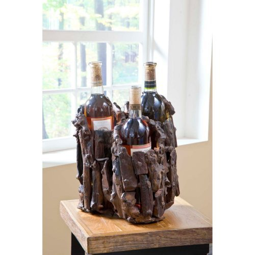 Groovystuff Drifter Three Bottle Wine Stand - Chocolate Lacquer