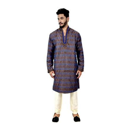 Indian Traditional Brocade Silk Multicolour Kurta Pajama for Men. This product is custom made to order. - image 6 de 6