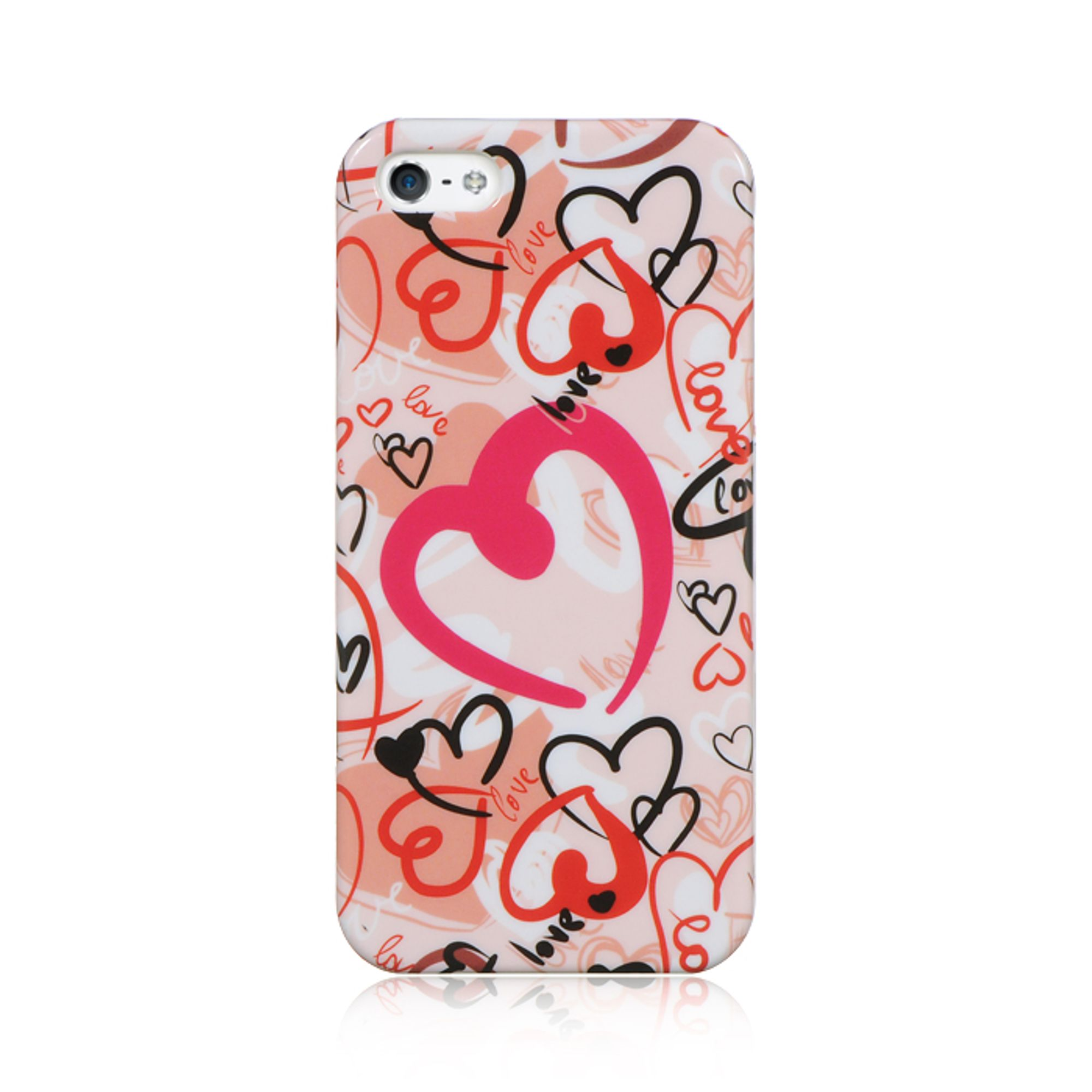 Insten Crystal Hard Clip On Case Forever Love For Apple iPhone SE / 5 / 5S