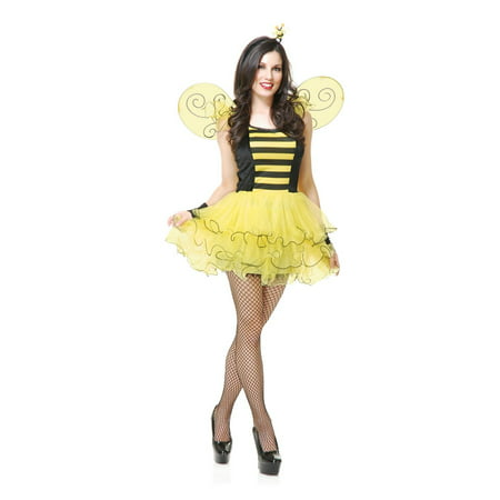 Halloween Sweet Bee Adult Costume](Women Bee Costume)