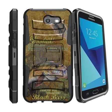 Samsung Galaxy J7 (2017) Case | J7 V | Samsung Perx | Samsung Sky Pro [Armor Reloaded] Heavy Duty Case w/ Kickstand + Belt Clip - Big Bass Fishing