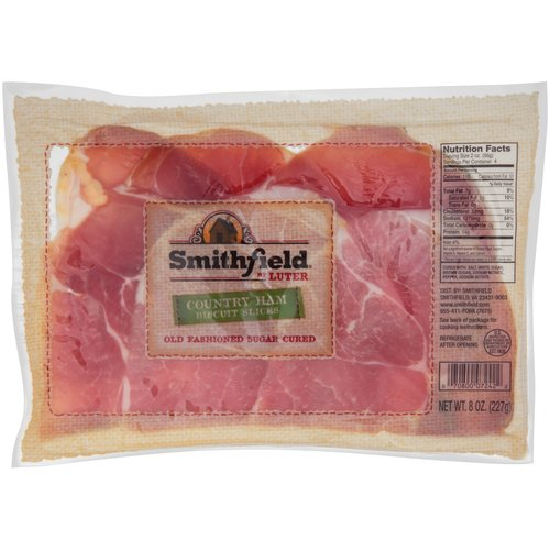 Smithfield Country Ham Biscuit Slices Old Fashioned Sugar Cured, 8.0 OZ