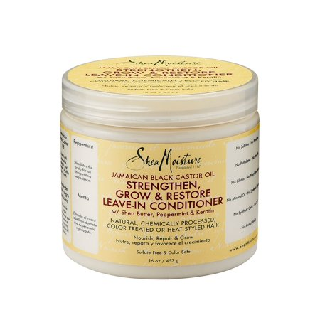 Shea Moisture Jamaican Black Castor Oil Strengthen & Restore Leave-In Conditioner, 16.0