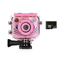 Tuscom Kids Waterproof Camera Video Digital 1080 HD Screen Toys Gifts Build-in SD Card