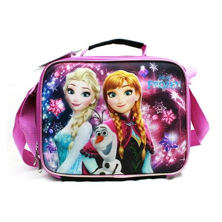 Lunch Bag - Disney - Frozen - Elsa Olaf & Anna Black New A07972BK ()