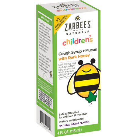 Zarbee S Naturals Children S Cough Syrup Mucus With Dark