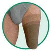 Silver Varin Soft-In Above Knee Medium Shrinker - 10/25cm Silver w/ Silicone Border, Size 3, Medium
