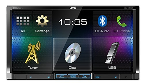 Car Audio JVC KW-V41BT 7-Inch Double Din Car Stereo Receiver with SiriusXM Radio Ready Compatible with iDataLink Maestro + JVC en VeoyCompro.net
