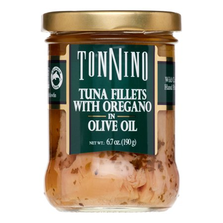 Tonnino Tuna Fillets, with Oregano & Olive Oil, 6.7
