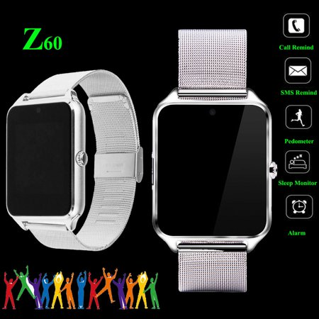 Gsm Watch Phone Bluetooth - Z60 Bluetooth Smart Watch Phone SIM GSM For Android IOS Samsung iPhone HTC 2017