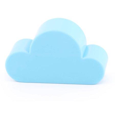Uxcell Household Plastic Cloud Shape Key Bracelet Holder Wall Mount Organizer Blue