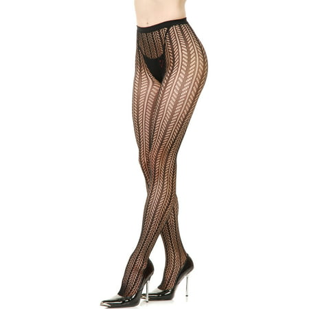 bb378fd3b67c4 Adult Womens Black Small Herringbone Harringbone Fishnet Costume Pantyhose  - Walmart.com