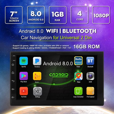 "2 DIN 7"" MP5 Player Android 8.0 Quad Core Car Radio Built-in WiFi GPS"