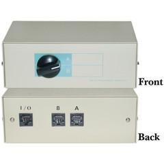 AB 2 Way Telephone Network Switch Box, RJ45 Female (Telephone Switch)