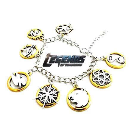 Legends of Tomorrow Charm Bracelet TV Show Series Comics Jewelry Multi Charms - Wristlet -Superheroes Brand Movie Superhero Comic Cartoon Collection