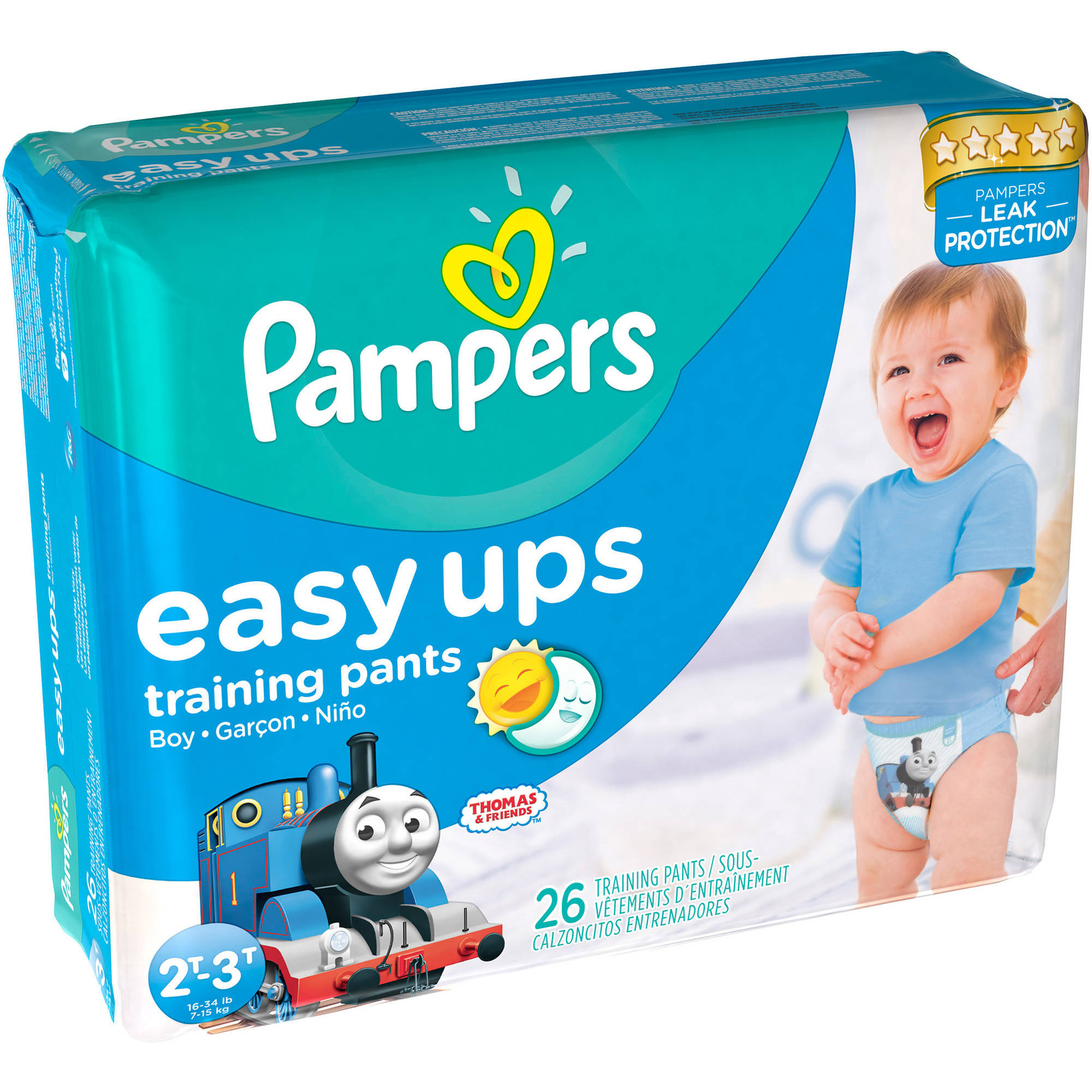 Pampers Easy Ups Boys Training Pants, Jumbo Pack, (Choose Your Size)