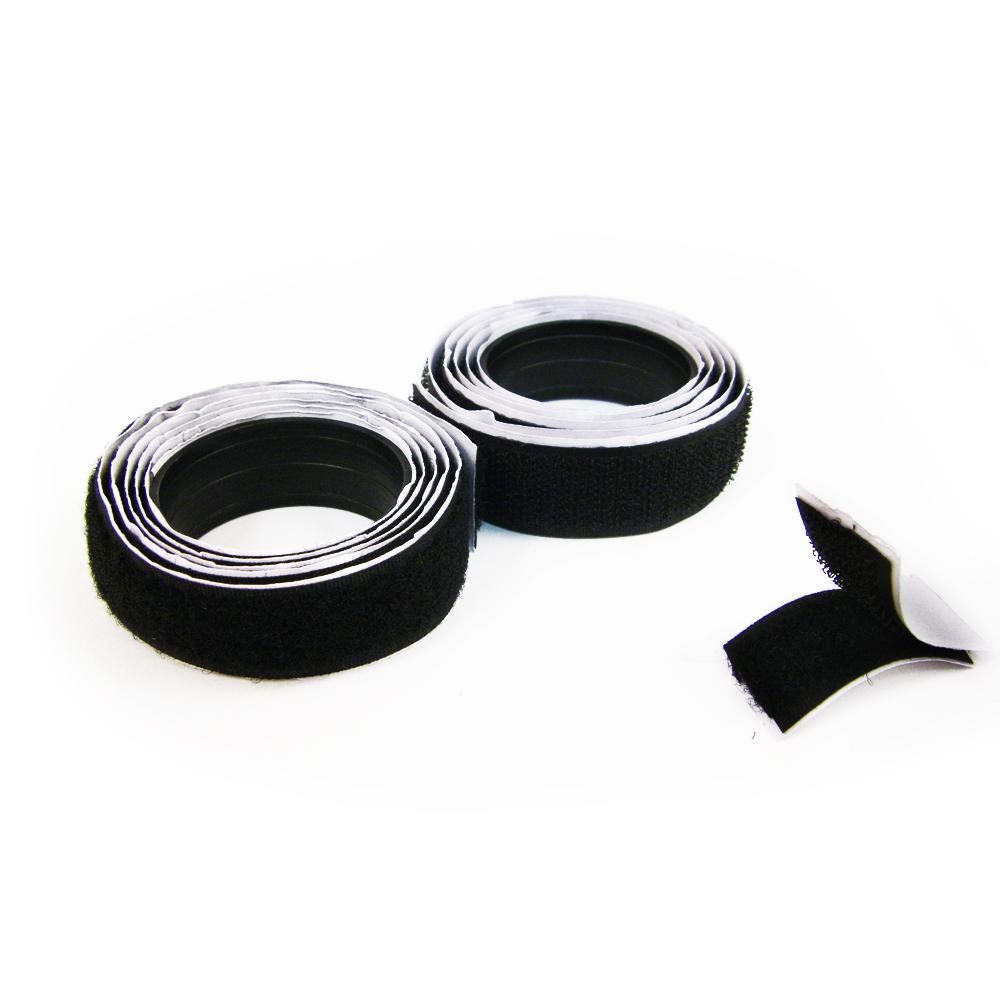 Hook and Loop Self Adhesive Sewing Tape, 40 Inch 3/4 Wide - Black