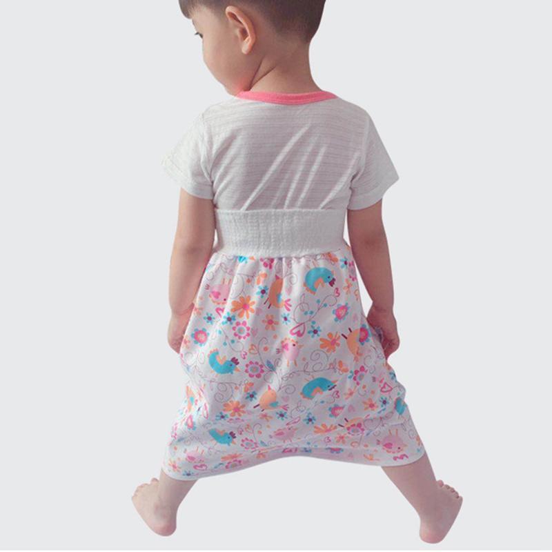 Diaper Skirt for Bed Wetting Toddler Reusable Soft JESSIENT Boys Girls Training Skirt