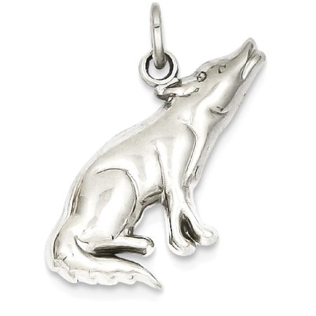 IceCarats 14k Whit Gold Wolf Pendant Charm Necklace Animal Wild Fine Jewelry Ideal Mothers Day Gifts For Mom Women Gift Set From Heart