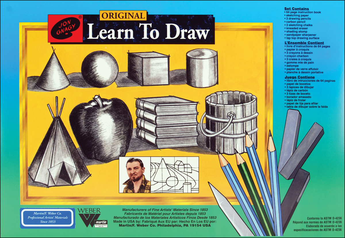 Jon Gnagy Learn To Draw Set-