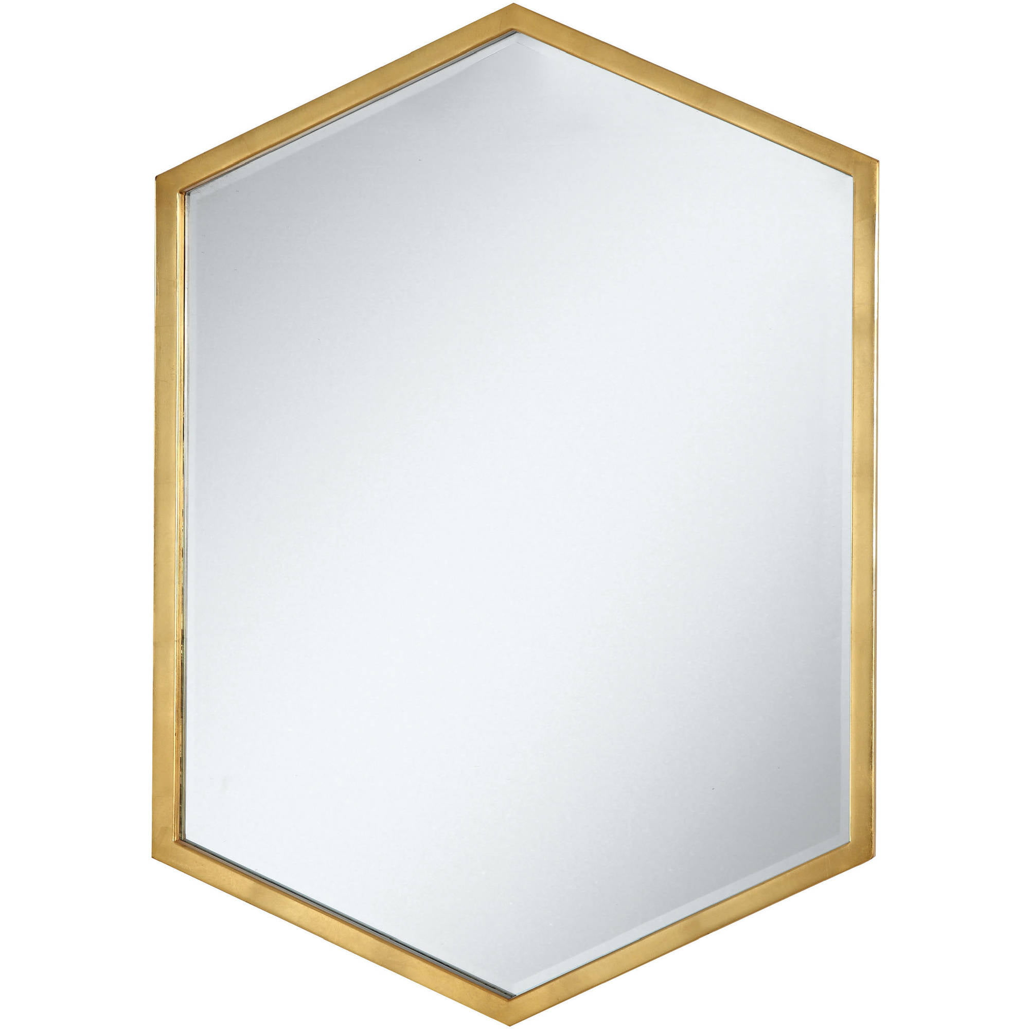 "Coaster Company Versatile Hexagon Design 34""x24"" Mirror, Gold Frame by Coaster Company"