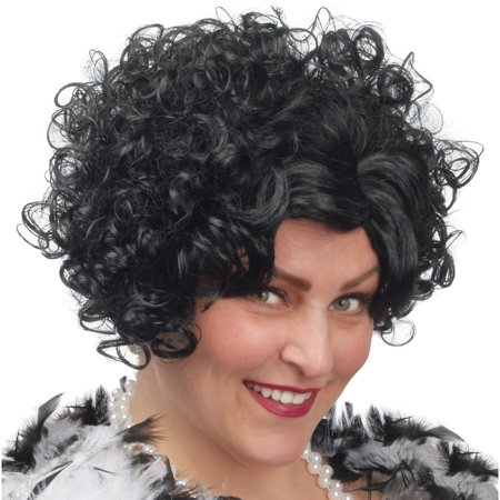 Loftus Roaring 20's Flapper Curly Short Black Wig, Black, One-Size](Flapper Wigs And Accessories)