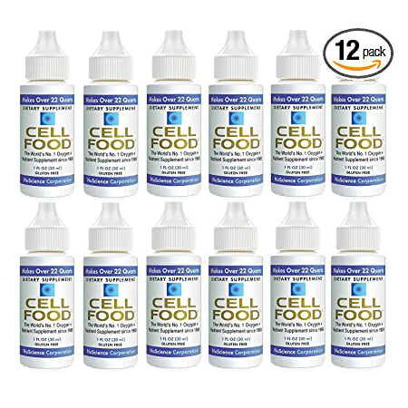 Cellfood Liquid Concentrate, 1oz Bottle (Pack of 12) - Original Oxygenating Formula Containing Seaweed Sourced Minerals, Enzymes, Amino Acids, Electrolytes, Superior Absorption- Gluten Free, GMO