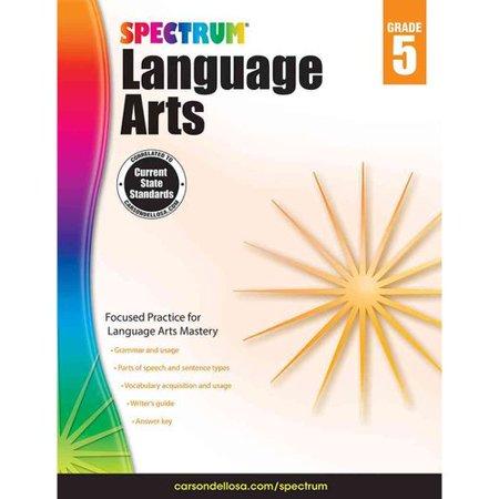 Carson Dellosa Cd 704592 Spectrum Language Arts Gr 5