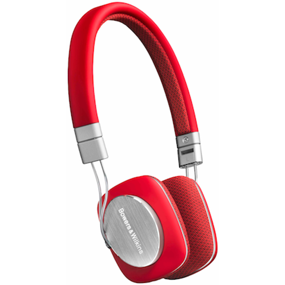 Bowers & Wilkins P3 On Ear Wired Headphones Mic & Remote RED