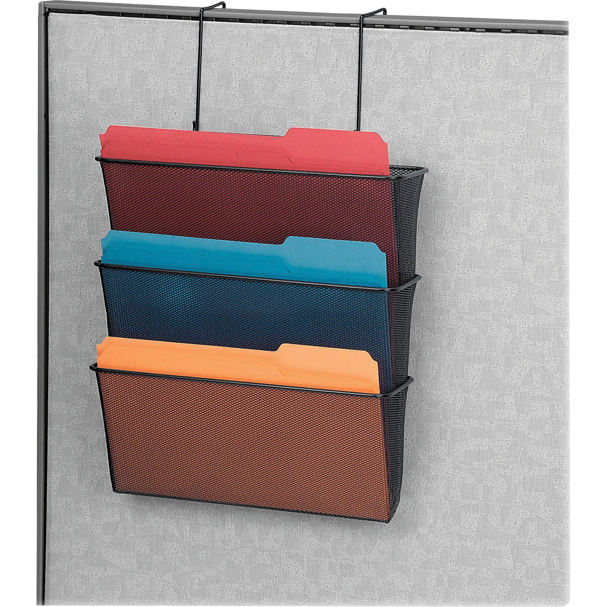 Fellowes, FEL75901, Partition Mesh Triple File Pockets, 1 Each, Black