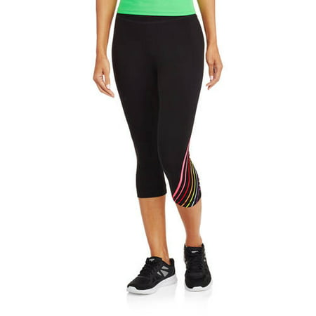 Athletic Works Women's Fitspiration Cotton Graphic Capri Legging