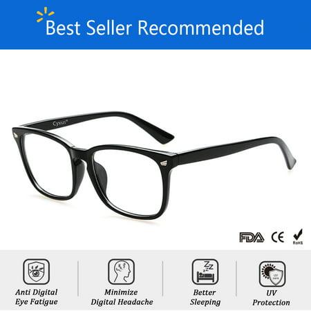 Cyxus Blue Light Blocking Computer Glasses for UV420 Protection Anti Eyestrain Headaches, Black Classic Frame Unisex(Men/Women)