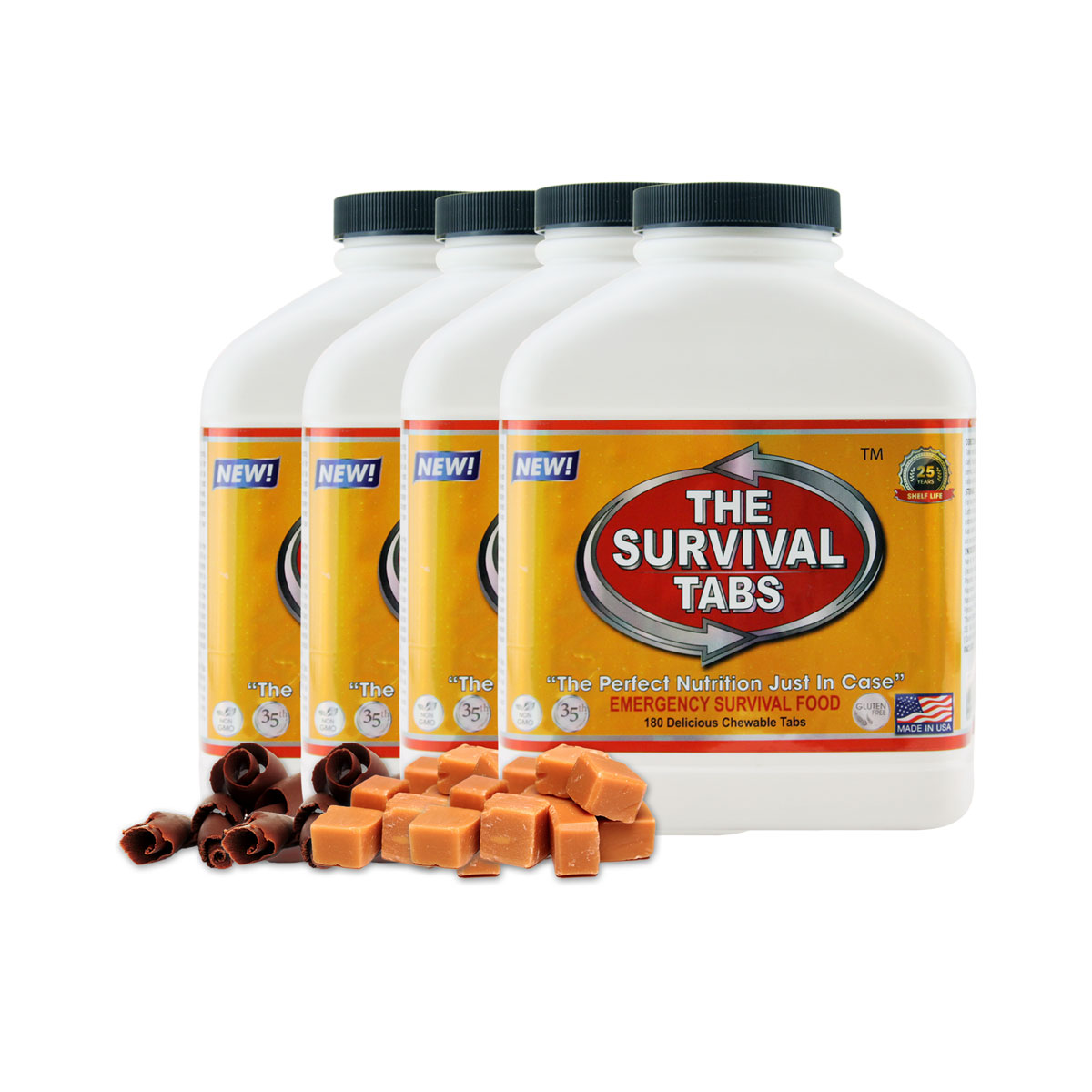 Survival Tabs 60 Day 720 Tabs Emergency Food Survival MREs Meal Replacement for Disaster Preparedness Gluten Free and Non-GMO 25 Years Shelf... by