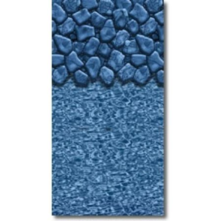Blue Wave NL364417 12 x 24 Oval 25 Ga. Boulder Swirl Overlap Liner